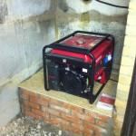 Установка генератора в подвале гаража
