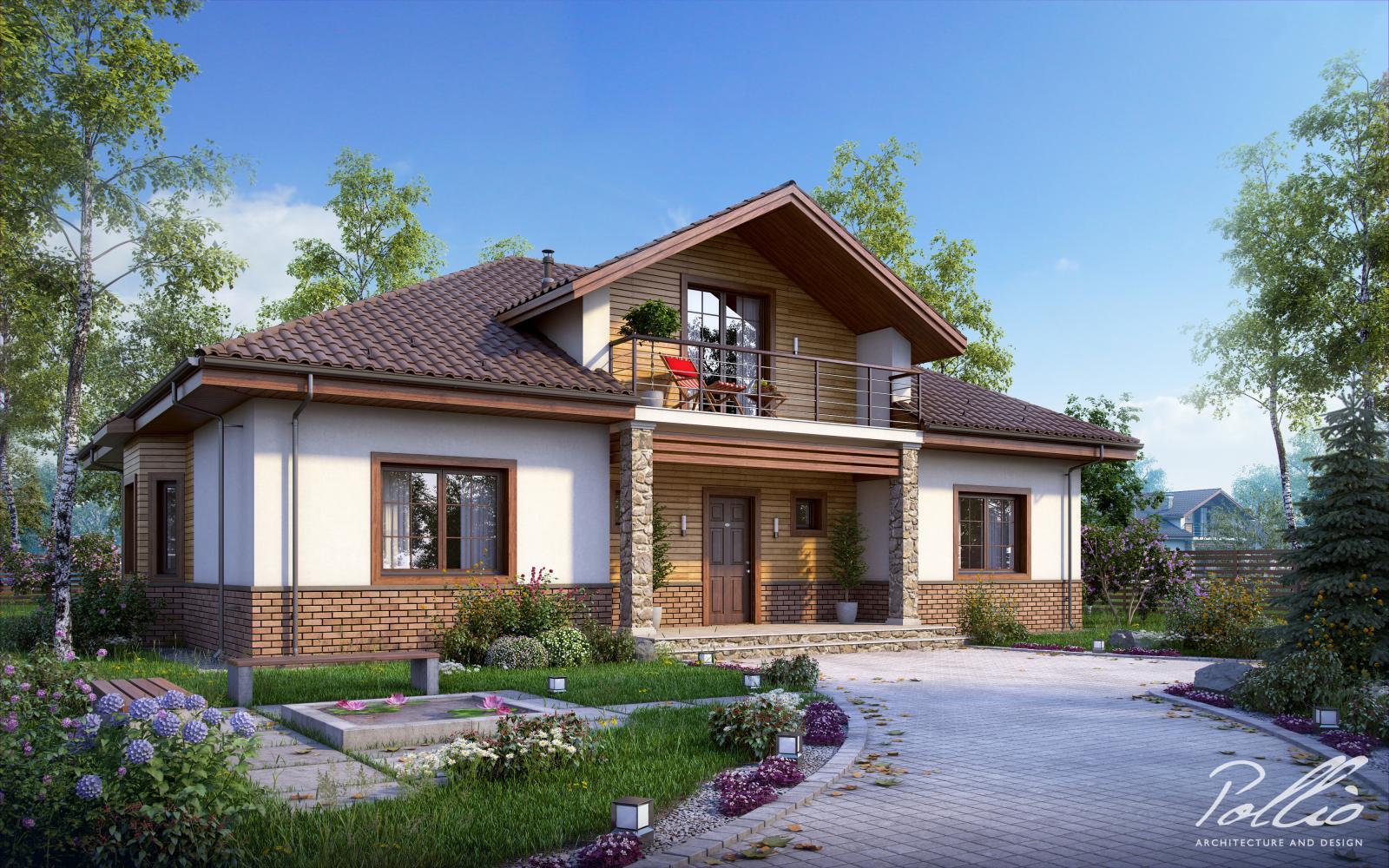 Фото красивых одноэтажных домов с мансардой
