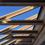 Монтаж деревянных балок Steico