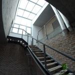 Лестница и стеклянная крыша