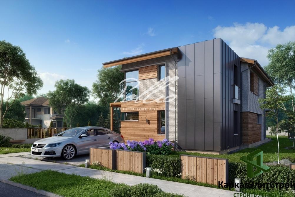 Проект мансардного дома X13